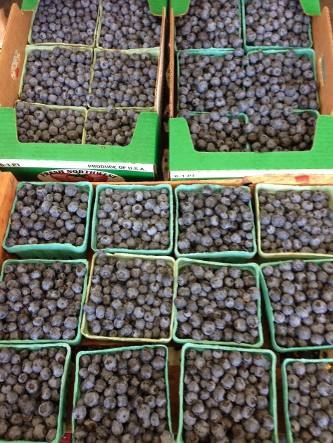 Roadside Sale, Blueberries, Oregon